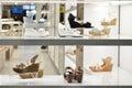 Women's shoes  shop window Royalty Free Stock Photo