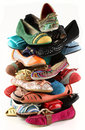 Women s shoes tower of pied without high heels Stock Image
