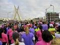 Women's Street Race Royalty Free Stock Image