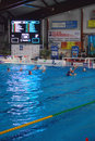 Women's water polo, Italy - Hungary Royalty Free Stock Photo