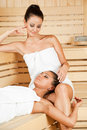 Women sauna Royalty Free Stock Photos