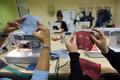 Women Sewing in Bosnia Royalty Free Stock Image