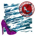 Women shoes,logo,3D illustration Royalty Free Stock Photo