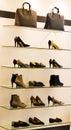 Women Shoes On Rack