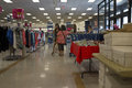 Women shoppers in a discount clothing store Royalty Free Stock Photo