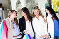Women at the shopping center Stock Photos