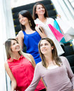 Women at a shopping center Royalty Free Stock Image