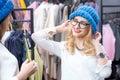 Women shopping clothes Royalty Free Stock Photo