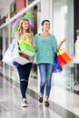 Women in the shopping mall Royalty Free Stock Photo