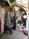 Women shopping at the Souk. Bizerte. Tunisia Royalty Free Stock Photo