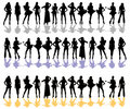 Women silhouette color Royalty Free Stock Images