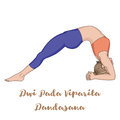Women silhouette. Upward Facing Two-Foot Staff Yoga Pose. Dwi Pada Viparita Dandasana