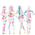 Women silhouettes patterned in advertisement template