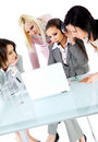Women team working together Stock Photos