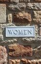 Women Toilet Bathroom Sign On ...