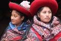 Women in traditional clothing peru wearing Royalty Free Stock Image