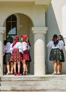Women in traditional dress from maramures romania june national port at the church Stock Image