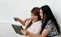 Women using tablet pc Stock Photos