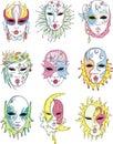 Women in Venetian carnival masks Royalty Free Stock Photo