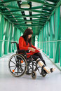 Women in wheelchair Royalty Free Stock Photography