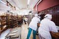 Women work in bakery of supermarket of home food moscow dec bahetle december moscow russia currently company bahetle has stores Royalty Free Stock Images