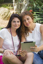 Women working with tablet Royalty Free Stock Photo