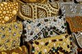 women& x27;s handbag decorated with semiprecious stones and beads on market in UAE