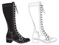 Womens boots Royalty Free Stock Photography