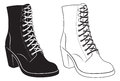 Womens boots Royalty Free Stock Photos
