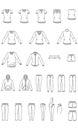 Womens clothes , Garment illustration , Vector