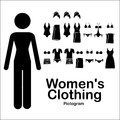 Womens clothing over white background vector illustration Royalty Free Stock Photography