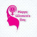 Womens day greeting card design vector illustration Royalty Free Stock Photo