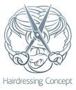 Stylist Hair Salon Hairdresser Icon Royalty Free Stock Photo