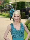 Womens fashion at royal ascot races Royalty Free Stock Images
