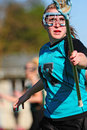 Womens Lacrosse Player Stock Photography