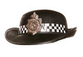 Womens police hat studio cutout Royalty Free Stock Images