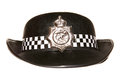 Womens police hat studio cutout Stock Photo