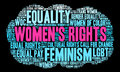 Womens Rights Word Cloud Royalty Free Stock Photo