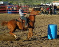 Womens Rodeo Barrel Racing Royalty Free Stock Photo
