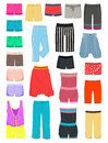 Womens shorts set of female summer breeches and capri Stock Photos