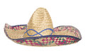 Womens sombrero hat studio cutout Royalty Free Stock Photo
