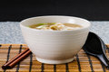 Won ton soup asian dumpling Stock Photo