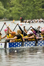 The Wonder Bra's Dragon Boat racing Royalty Free Stock Photos