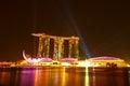 Wonder Full show at the Marina Bay waterfront Stock Photos
