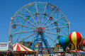 Wonder wheel ferris wheel at coney island ride new york city s amusement park Stock Image