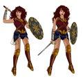 Wonder woman superhero Royalty Free Stock Photo
