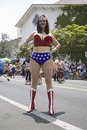 Wonder Woman imitator Stock Images