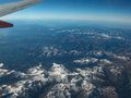 Wonderful ariel view rocky mountains over colorado view high enough to see curvature earth Stock Image