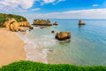 Wonderful beaches of portugal lagos algarve Royalty Free Stock Image
