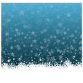 Wonderful Christmas ice flower with stars background Royalty Free Stock Photo